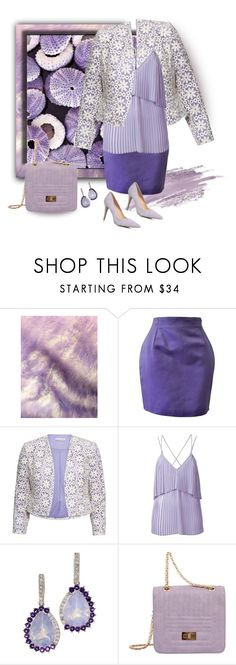 """Sea Urchin Mimicry💜Shades of Lavender"" by tmcintyre ❤ liked on Polyvore featuring Versace, Gina Bacconi, Elie Saab, Mellow World and Dorothy Perkins"