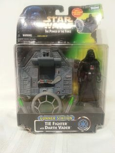 Star Wars Power of the Force Gunner Station Tie Fighter with  Darth Vader #Kenner