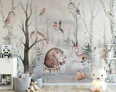 Old Wallpaper, Self Adhesive Wallpaper, Peel And Stick Wallpaper, Floor Wallpaper, Wallpaper Murals, Wallpaper Shops, Chinoiserie Wallpaper, Forest Wallpaper, Animal Wallpaper