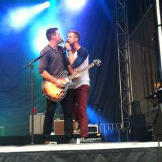 Ryan Tedder and Zach Finicks of One Republic SPF 2012