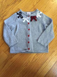 Toddler Girls Gray Cardigan Sweater Talbots Kids 2 2T | eBay
