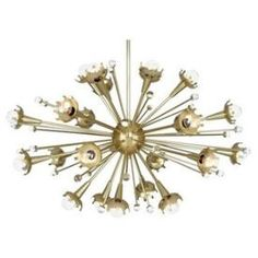 This is such a unique chandelier that everyone should want. It is such cool light that would look great in a mid-century room. Come check yours out now!  Use Code PIN15 for 15%  off at www.1stoplighting.com . Robert Abbey Lighting 710 Jonathan Adler Sputnik - Twenty-Four Light Chandelier