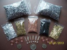 ORGONE MAKING SUPPLIES KIT For 6 Small ORGONITE PYRAMID - PENDANTS Reiki Crystal