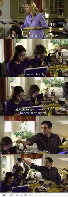 Modern family funny scene