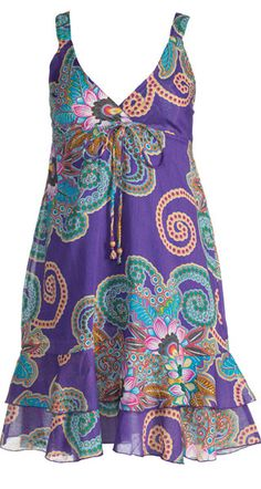 These are sooo cute! Flower print double layer mid length dress