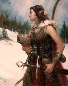 "fantasy-art-engine: ""Elf Ranger by Lucas Graciano "" Dark Fantasy, Fantasy Rpg, Medieval Fantasy, Fantasy Portraits, Character Portraits, Fantasy Artwork, Dungeons And Dragons, Elfa, Fantasy Inspiration"