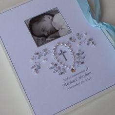 Baby photo album personalized beaded monogram baby girl gift baby baptism photo album personalized photo album baby gift by daisyblu negle Images