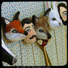 Doll Masks  © Christine Alvarado, 2008