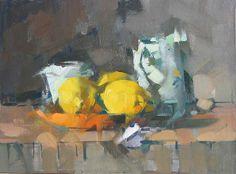 Lemons, © 2006, oil on linen, 12 x 16 inchesMaggie Siner - a favorite of mine