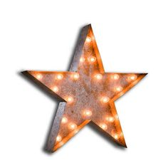 Vintage fairground star shaped light sign - Andy Thornton