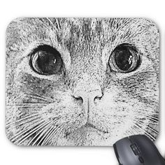 Everyone will love this @adorable @cat art mousepad. That face is simply irresistible! #cute #pets