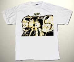 ABBA drawing 1 DELUXE CUSTOM ART UNIQUE T-SHIRT   Each T-shirt is individually hand-painted, a true and unique work of art indeed!  To order this, or design your own custom T-shirt, please contact us at info@collectorware.com, or visit http://www.collectorware.com/tees-abba.htm