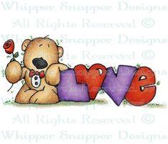 Tuxedo Love Bear - Bears - Animals - Rubber Stamps - Shop