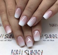 Ombre nail designs for this year 013 – The Best Nail Designs – Nail Polish Colors & Trends Ombre French Nails, French Manicure Nails, Gelish Nails, Manicure E Pedicure, How To Ombre Nails, Gel Ombre Nails, Umbre Nails, Nail French, French Tips