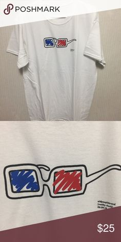 17455b1a174 Glasses white shirt size large condo Fits true size  selling cheaper on  depop