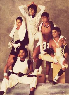 The Jacksons- I love how Michael is the only one who is fully covered in this shot.