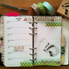 This week in my filofax  #filofax #filofaxing #filofaxlove #filofaxaddict #filofaxdecoration #planner #plannernerd #planneraddict #prettyplanner #plannergirl #journal #journaling #paper  #paperaddict #scrapbooking #washi #washiaddict #washitape #maskingtape #badger #honeybadger #flowers  stamp by #margamarina (dawanda)