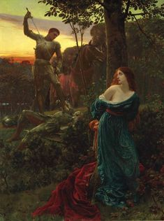Sir Frank Dicksee (1853-1928)Chivalry Nobility (Chivalry) 1885,
