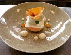 Tiered dessert plating | Tom van Woerkum, for Vestdijk 47 // via Instagram