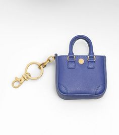 Robinson Small Tote Key Fob in Cobalt