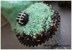 Pin this Football Cupcake  to Win a Chapstick Prize Package #Sweepstakes Ends 2/14.