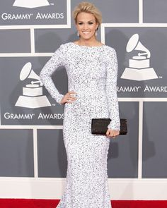 That glow! | Fitbie.com. Gorgeous modest dress on Carrie Underwood!