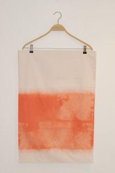 Striking orange dip dye pillowcase on Etsy