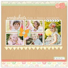 Love not only the design but the lovely knew digi kit by Crystal Wilkerson! Vintage Summer Layout