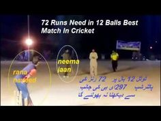 Highlights Cricket Game Total 12 Bol 72 Runs