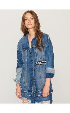 Jeansowa kurtka, Ubrania i dodatki, niebieski, RESERVED