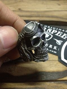 Fourspeed Metalwerk's Aeronaut Skull Ring available today !! Get Christmas and New Year 40% discount plus flat rate shipping worldwide by simply applied the discount code of FOURSPEED at www.fourspeedmetalwerks.bigcartel.com More info at info@fourspeedweb.com