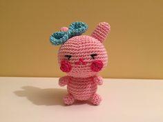 tutorial mini coniglietto Amigurumi/how to crochet a pink rabbit amigurumi