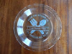 Customizable Etched Pie Plate