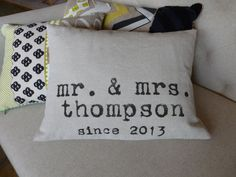 Hey, I found this really awesome Etsy listing at http://www.etsy.com/listing/127294323/mr-and-mrs-throw-pillow-personalized