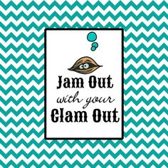 Jam Out with your Clam Out koozie can wrap. Personalization not included. Great bachelorette party items. Set of 7.
