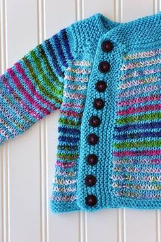 Free Knitting Pattern for a Left of Center Cardi.