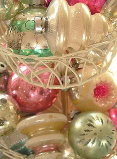I love vintage ornaments!