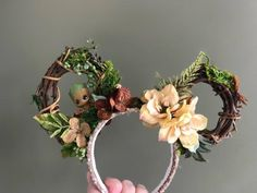 PRE ORDER Groot Mickey ears guardians of the galaxy ears groot Mickey ears groot minnie ears gu Disney Diy, Diy Disney Ears, Disney Minnie Mouse Ears, Disney Crafts, Disney Trips, Mickey Ears Diy, Micky Ears, Disney Souvenirs, Disney Dream