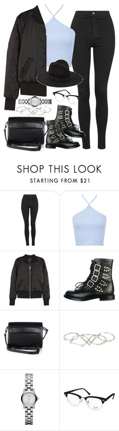"""Untitled #837"" by elly98 ❤ liked on Polyvore featuring Topshop, Miss Selfridge, H&M, Yves Saint Laurent, Alexander Wang, Zimmermann, Marc by Marc Jacobs, Ray-Ban and Yestadt Millinery"