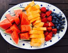 Hump day fruit vibes Wishing I got to pick from this platter of colourful yummy fruit for an afternoon snack #lifewithken #watermelon #rockmelon #strawberries #blueberries #sustainability #agriculture #fruitsalad #yummy #foodie #fitfood Re-post by Hold With Hope