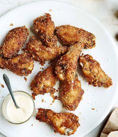 Australian Gourmet Traveller recipe for Fried chicken wings with coleslaw milk