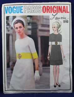 Dress by Lanvin in Size 12, Paris Original Sewing Pattern - Vogue 1910 by TheVintageSewingB on Etsy