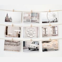 Paris Postcard Collection White, on Fab.