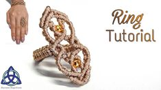 Macrame Ring Tutorial: Super Wavy ; How to Make Wavy Ring