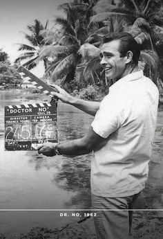 Sean Connery on the set of Dr. No