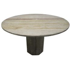 Italian Travertine Dining Room Table   From a unique collection of antique and modern dining room tables at http://www.1stdibs.com/furniture/tables/dining-room-tables/