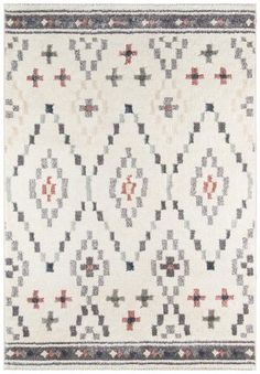 Southwestern Gray Ivory Rug The Lima Collection uses a subtle modern approach to make a comforting statement. Thisplush rug has the right amount of shine to cr