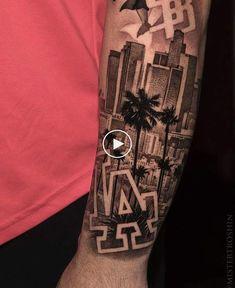 Tattoo Arm Mann, Chicanas Tattoo, Forarm Tattoos, Forearm Sleeve Tattoos, Dope Tattoos, Tattoo Sleeve Designs, Arm Tattoos For Guys, Tattoo Designs Men, City Tattoo