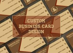 Custom Business Card Design Business Card Design Graphic