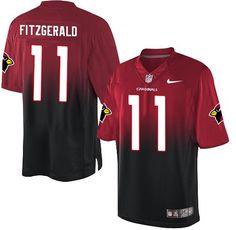 0b70c1501d2 Nike Larry Fitzgerald Elite Red/Black Men's Jersey - NFL Arizona Cardinals # 11 Fadeaway
